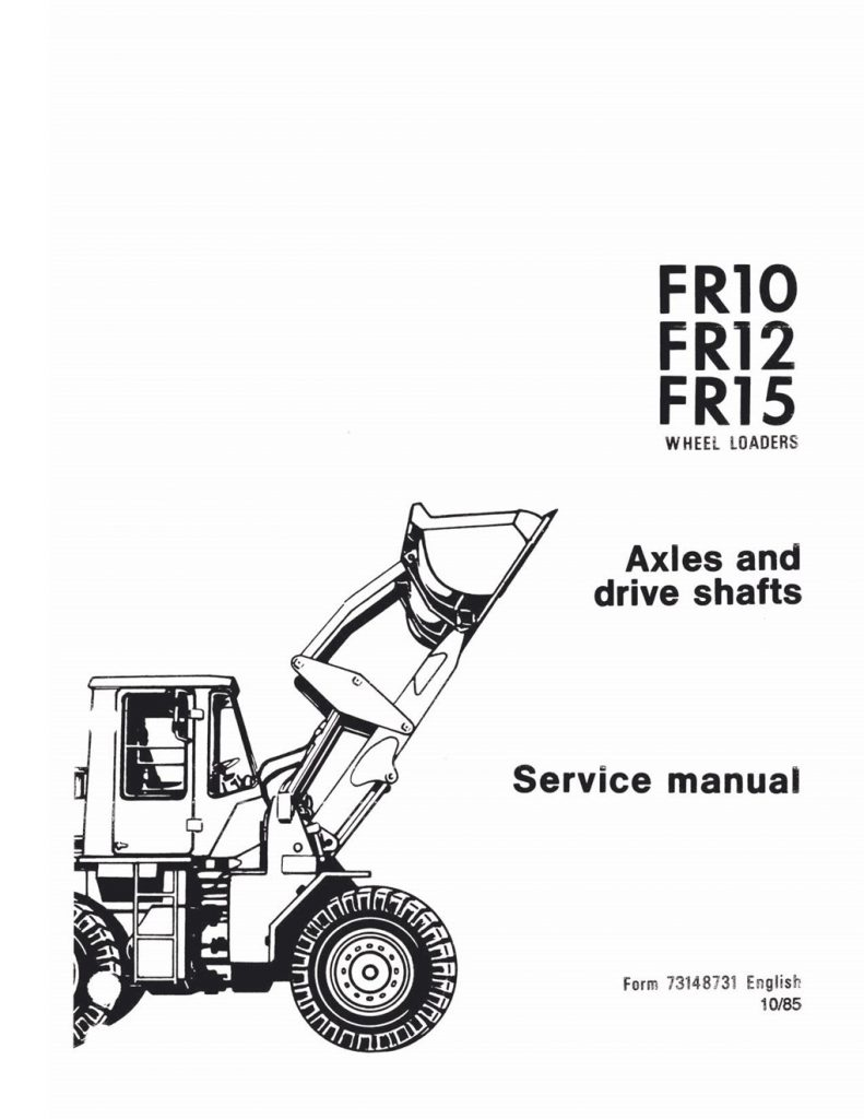 Fiatallis FR10/FR12/FR15 Wheel Loader Alexs and drive