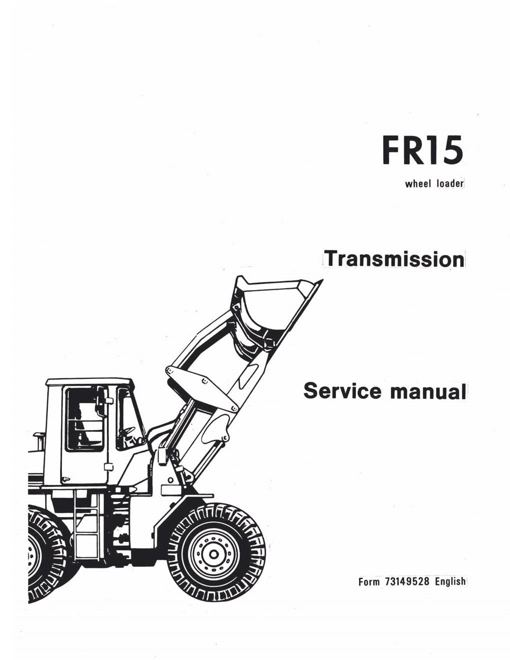 Fiatallis FR15 Wheel Loader Transmission Service Manual