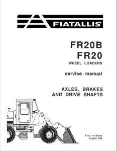 Fiatallis FR20/FR20B Wheel Loader Service Repair Manual