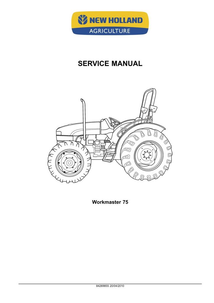 New Holland Workmaster 75 Tractor Service Repair Manual