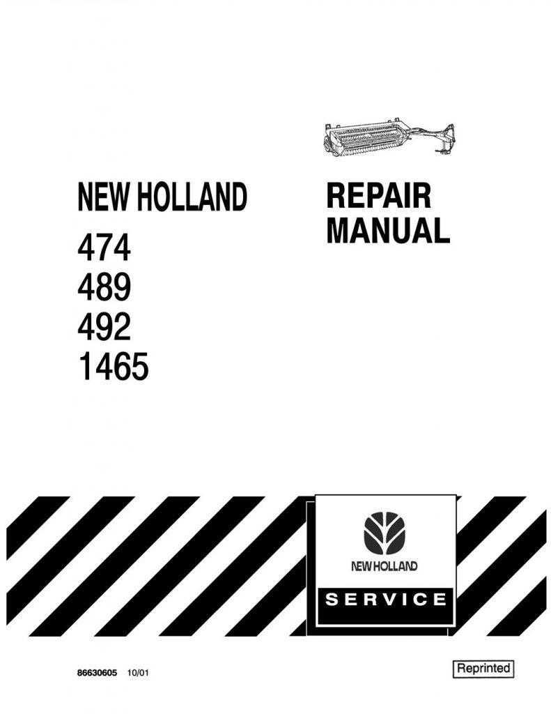 New Holland 474/489/492/1465 Mower Conditioner Service