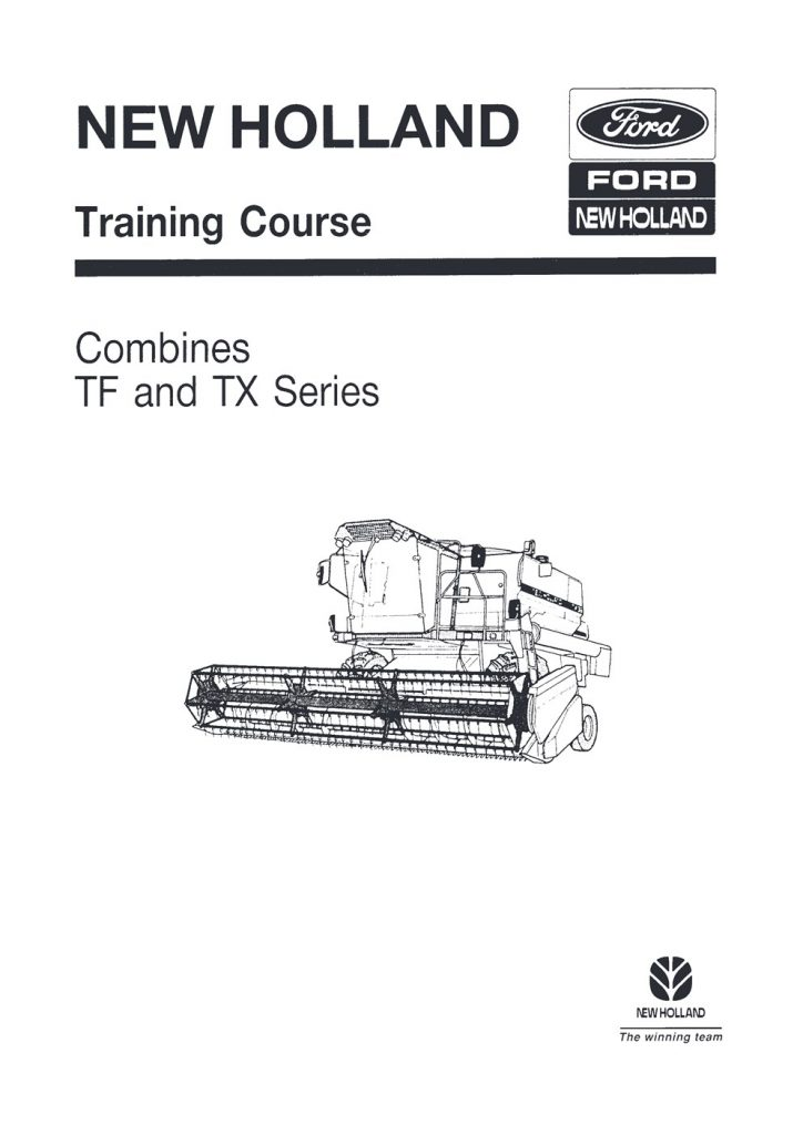 New Holland TF and TX Combine Training Service Repair