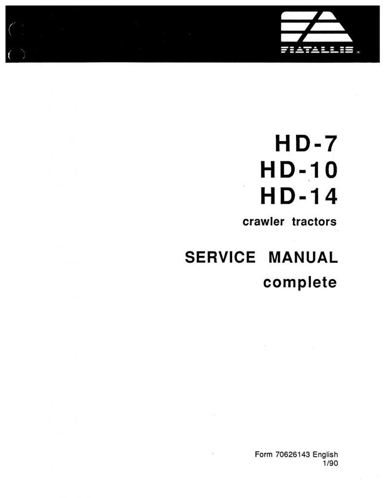 Fiat-Allis HD-7/HD-10/HD-14 Crawler Tractors Service