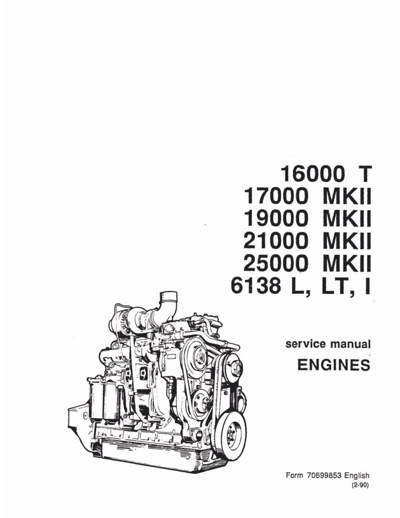 Fiat-Allis 16000/17000/19000/21000/25000/6138 Engine