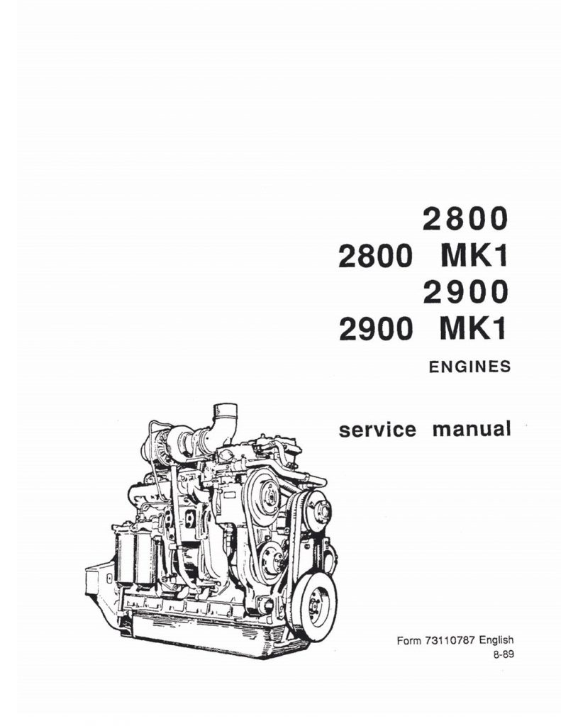 Fiat-Allis 2800/2800 MK1/2900/2900 MK1 Engines Service