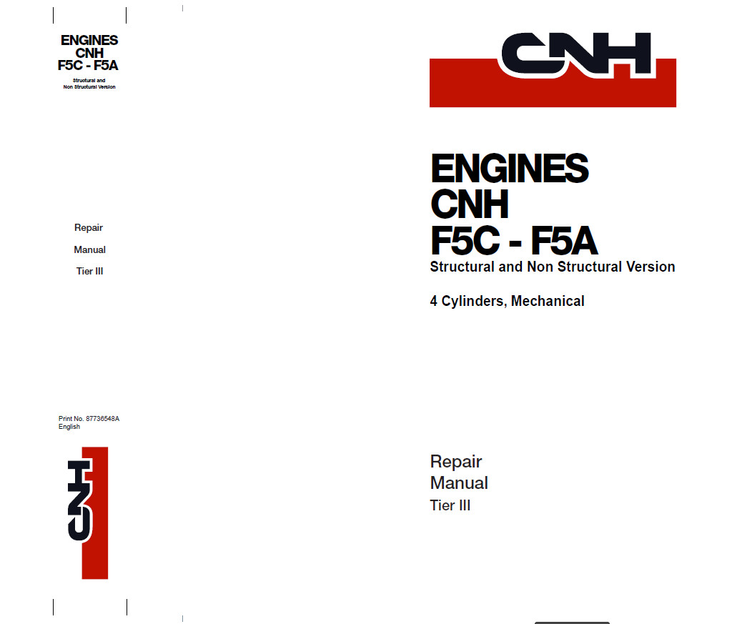 New Holland Cnhsel Engine F5c F5a Service Repair