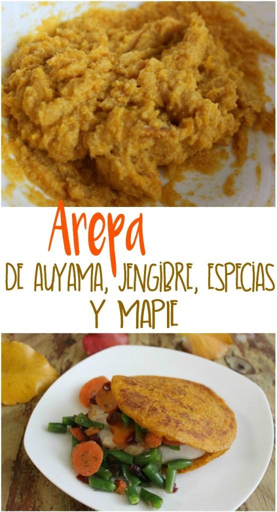 Arepas Fit de Auyama, Jengibre, Especias y Maple
