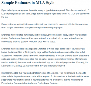 Sample Endnotes In MLA Style A Research Guide For Students