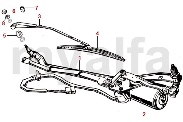 Alfa Romeo ALFA GIULIA GT BERTONE Wipers, Wiper Blades