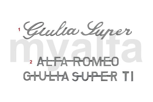 Alfa Romeo ALFA GIULIA BERLINA SCRIPTS 2
