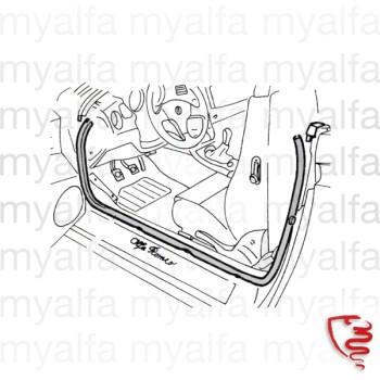 Alfa Romeo ALFA GTV/SPIDER (916) DOOR SEAL PARTIAL