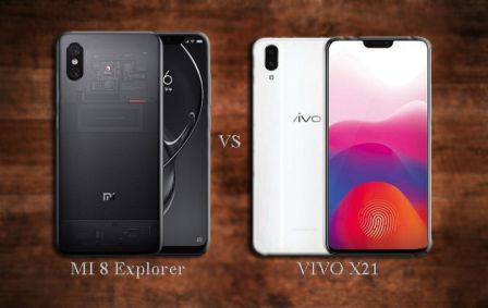 Xiaomi Mi 8 Explorer Edition vs Vivo X21 | Specification