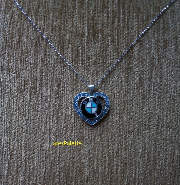 bmw necklace bmw blue love necklace 1