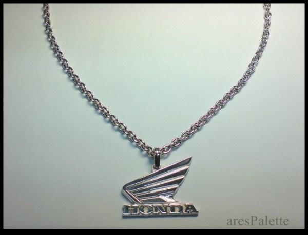 honda motorbike necklace 925 silver 2