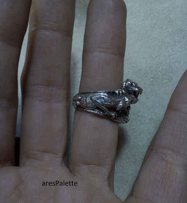 lion ring men ring lion handmade silver ring 6