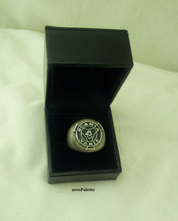scania vabis men ring siver 10