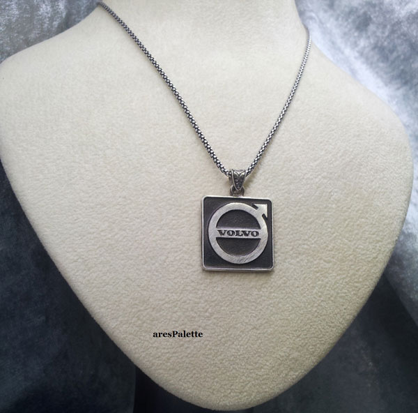 volvo silver necklace volvo collier volvo halskette car jewelry arespalette2