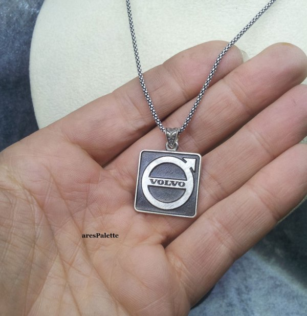 volvo silver necklace volvo collier volvo halskette car jewelry arespalette4