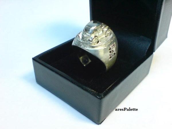 vw beetle customized ring 925 12