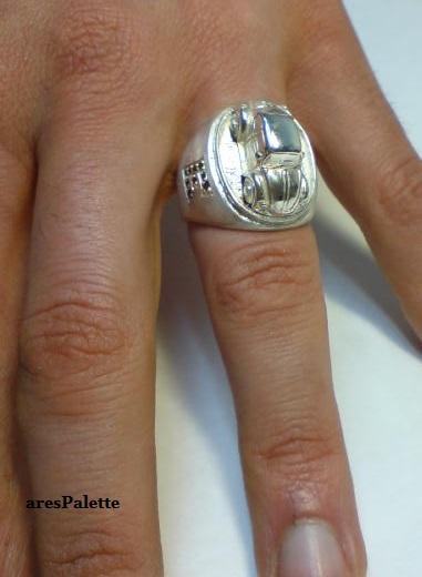 vw beetle customized ring 925 15