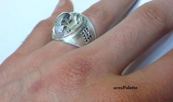 vw beetle customized ring 925 16