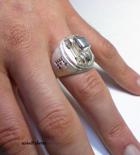 vw beetle customized ring 925 21