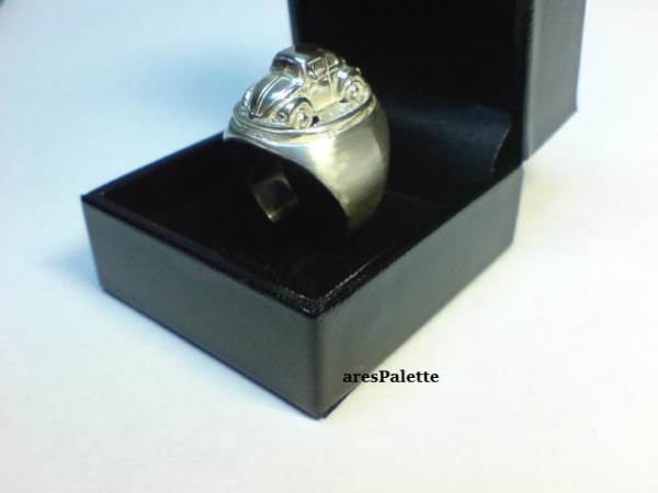vw beetle customized ring 925 28