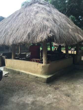 The small structure was thatched and became a multi-functional area.