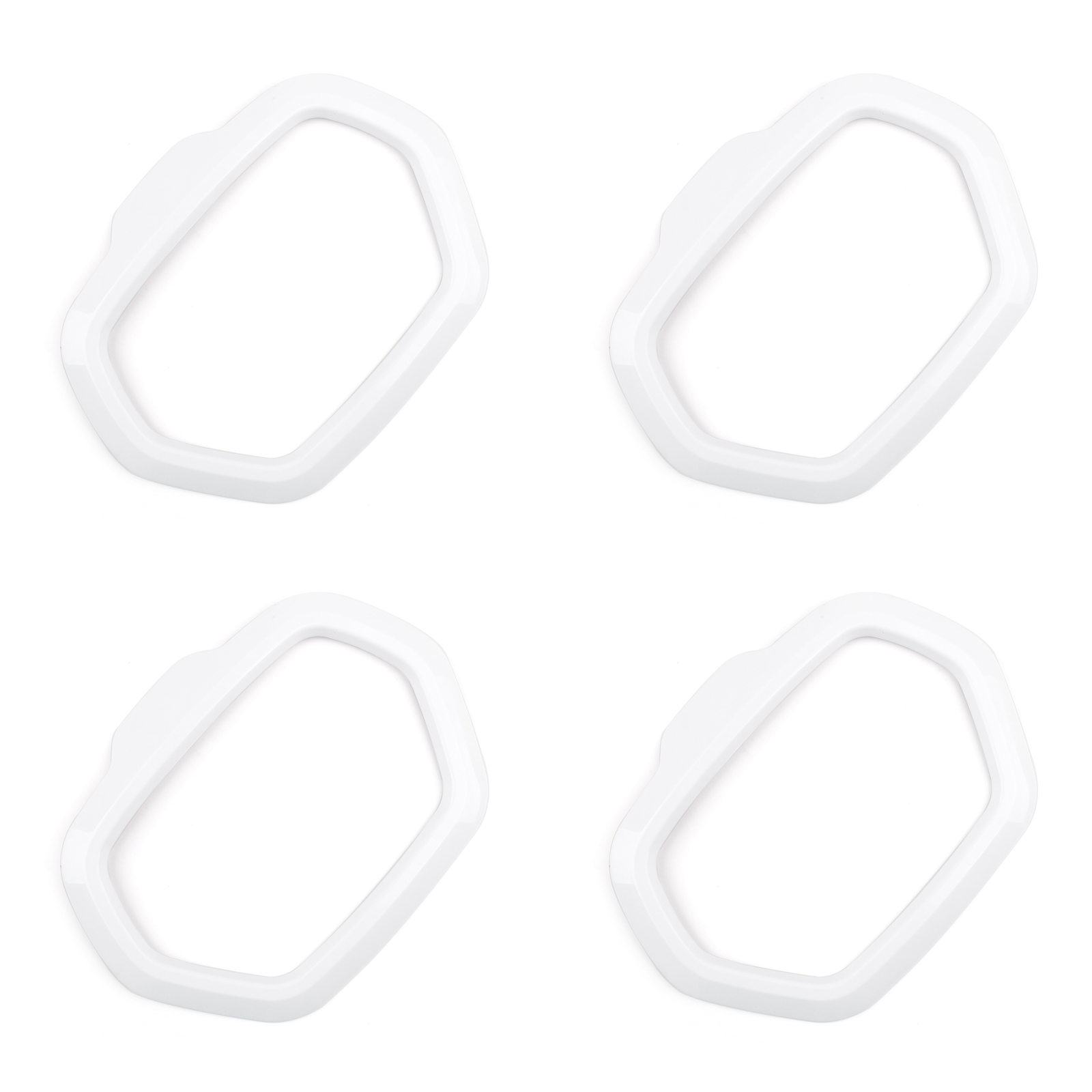 4pcs Abs Car Door Speaker Cover Trims Frame For Jeep
