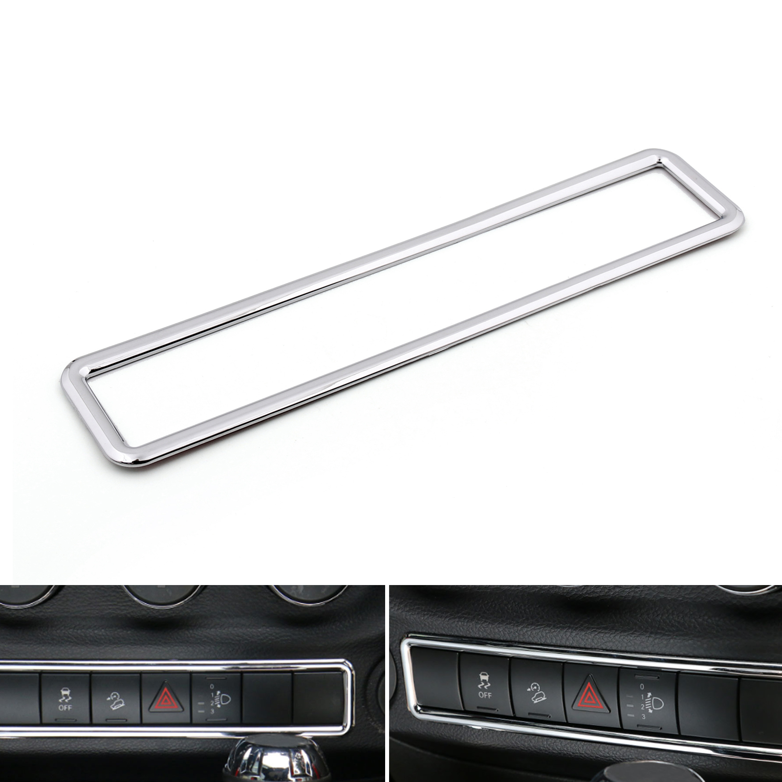 Chrome Emergency Light Switch Cover Frame Trim For Jeep