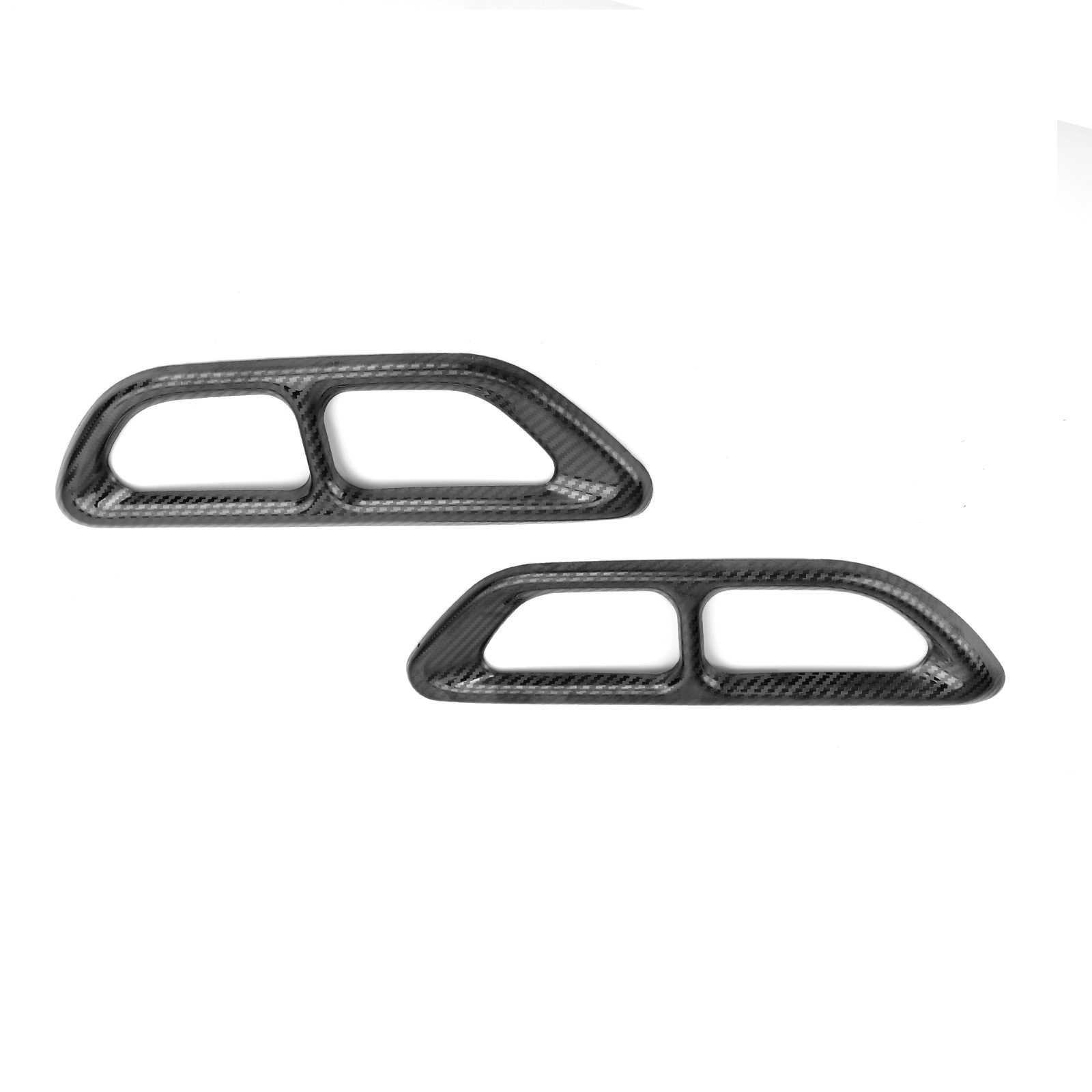 Carbon Fiber Steel Rear Cylinder Exhaust Pipe Cover Trim