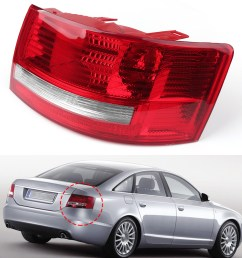 details about right passenger s side tail light cover for 05 08 audi a6 quattro s6 4f5945096m [ 1600 x 1600 Pixel ]