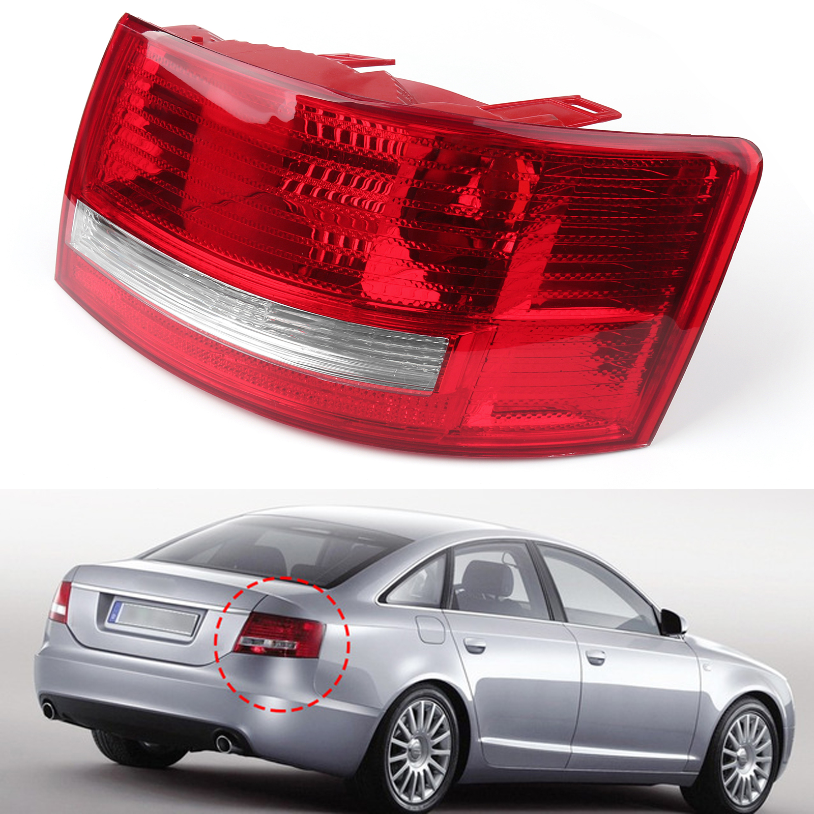 hight resolution of details about right passenger s side tail light cover for 05 08 audi a6 quattro s6 4f5945096m