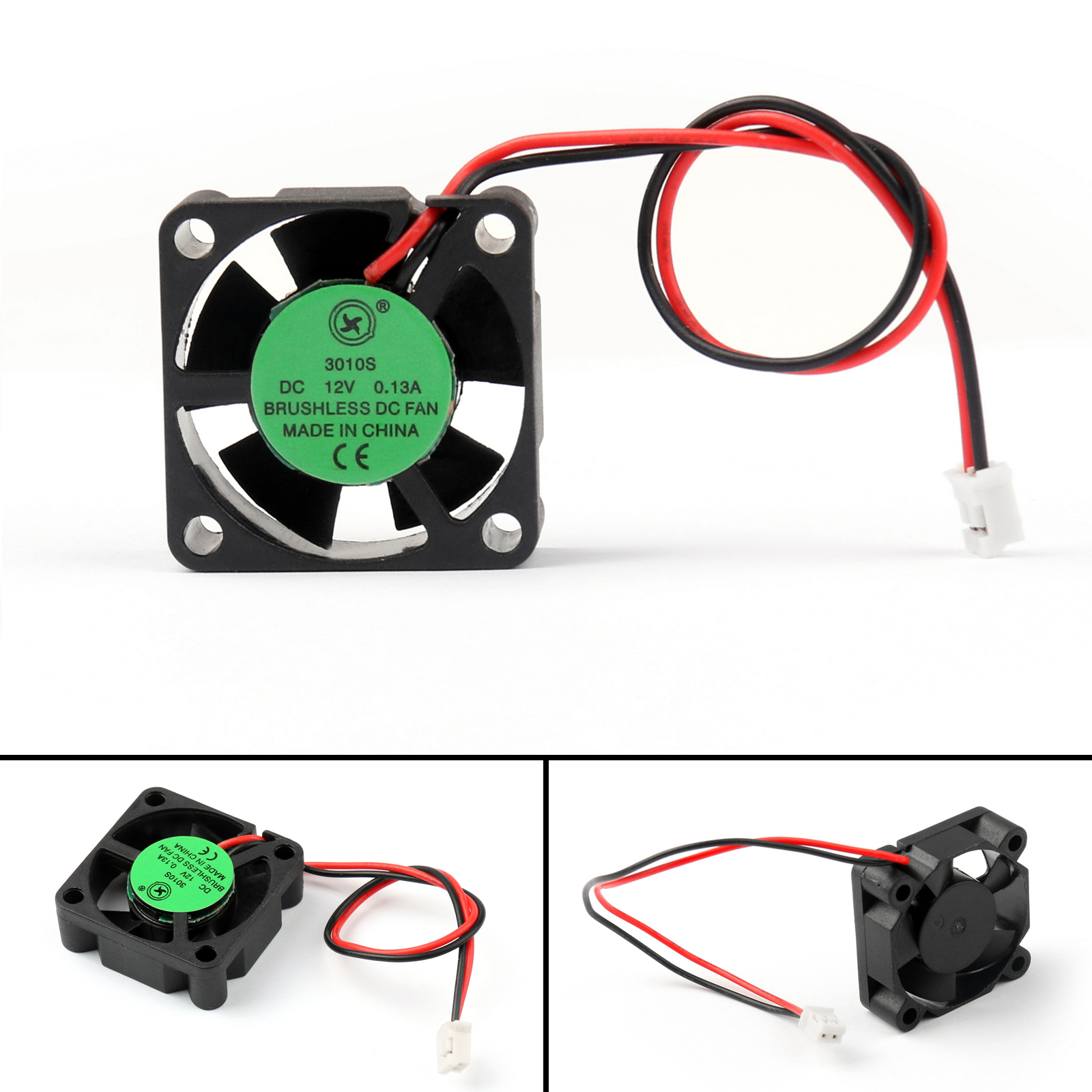 hight resolution of details about dc brushless cooling pc computer fan 12v 3010s 30x30x10mm 0 13a 2 pin wire ue