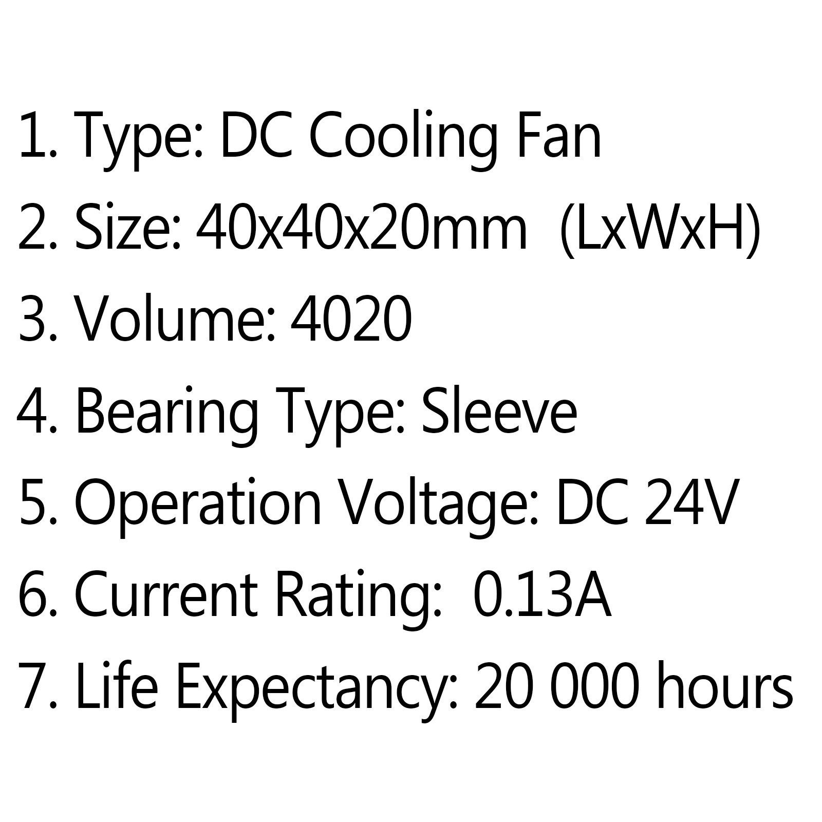 DC Brushless Cooling PC Computer Fan 24V 4020 40x40x20mm 0