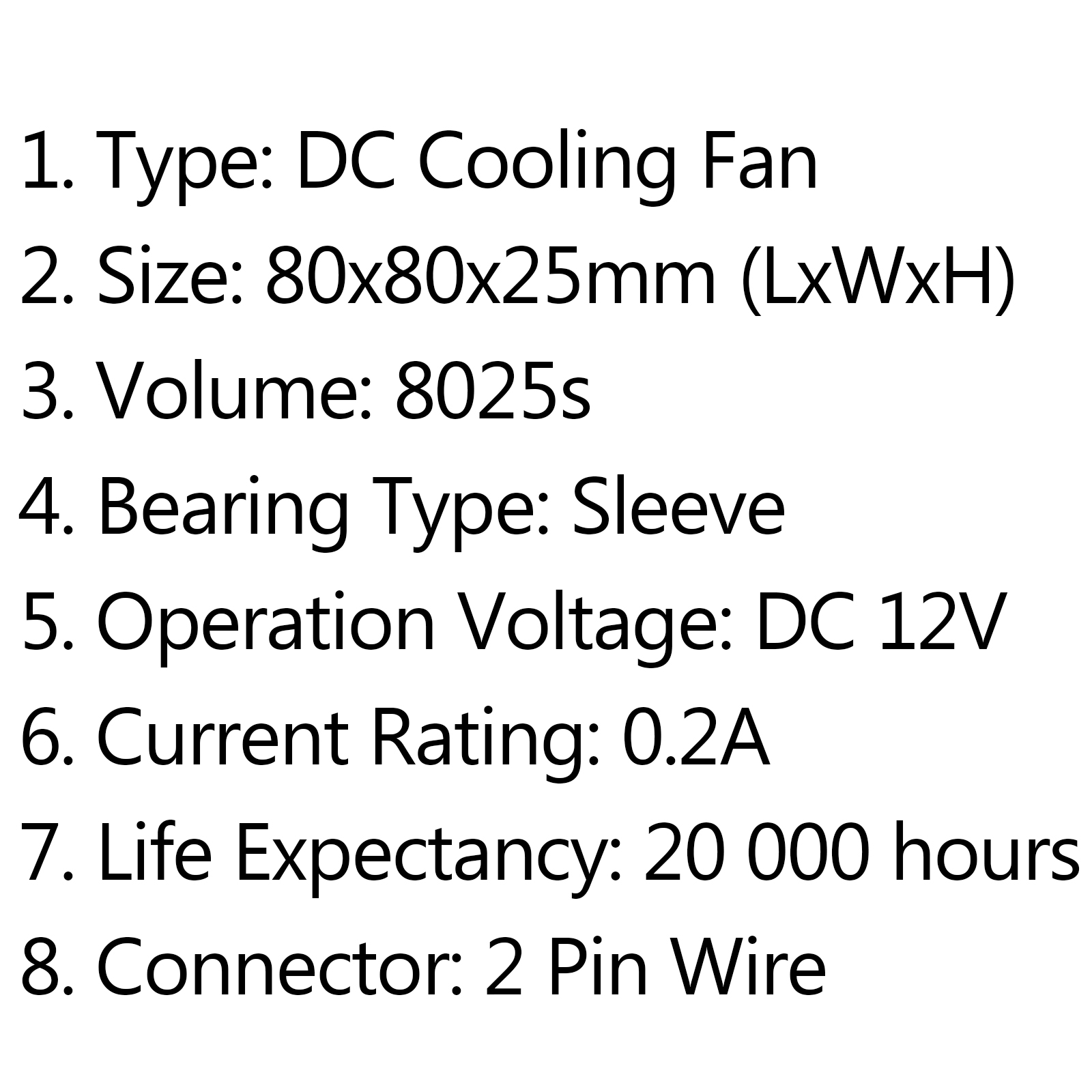 Dc Brushless Cooling Pc Computer Fan 12v 24v S