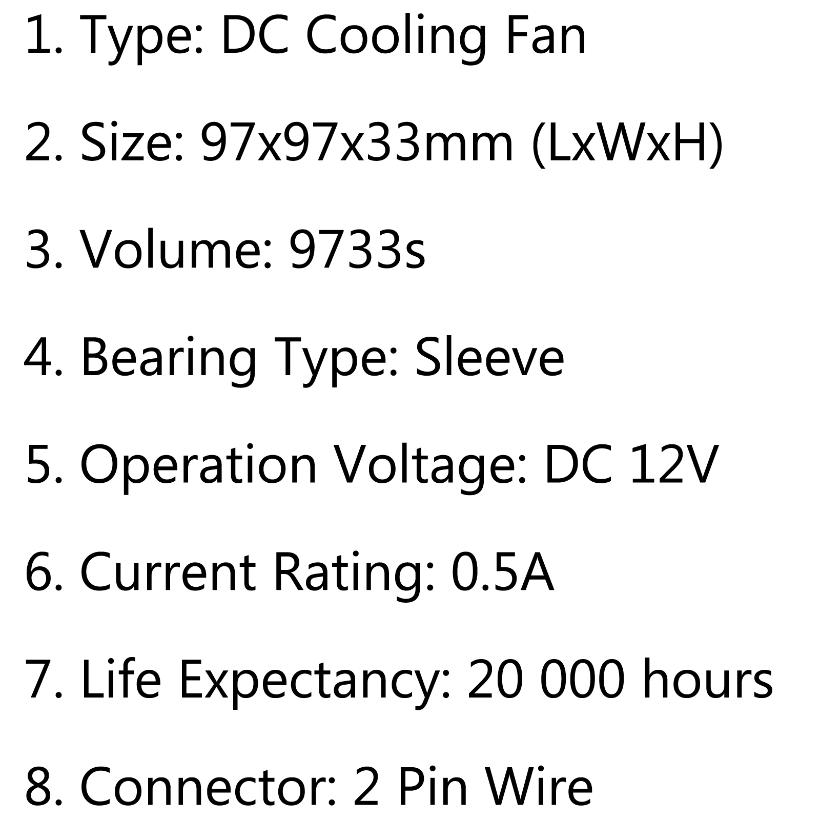Dc Brushless Cooling Pc Computer Fan 12v S 97x97x33mm