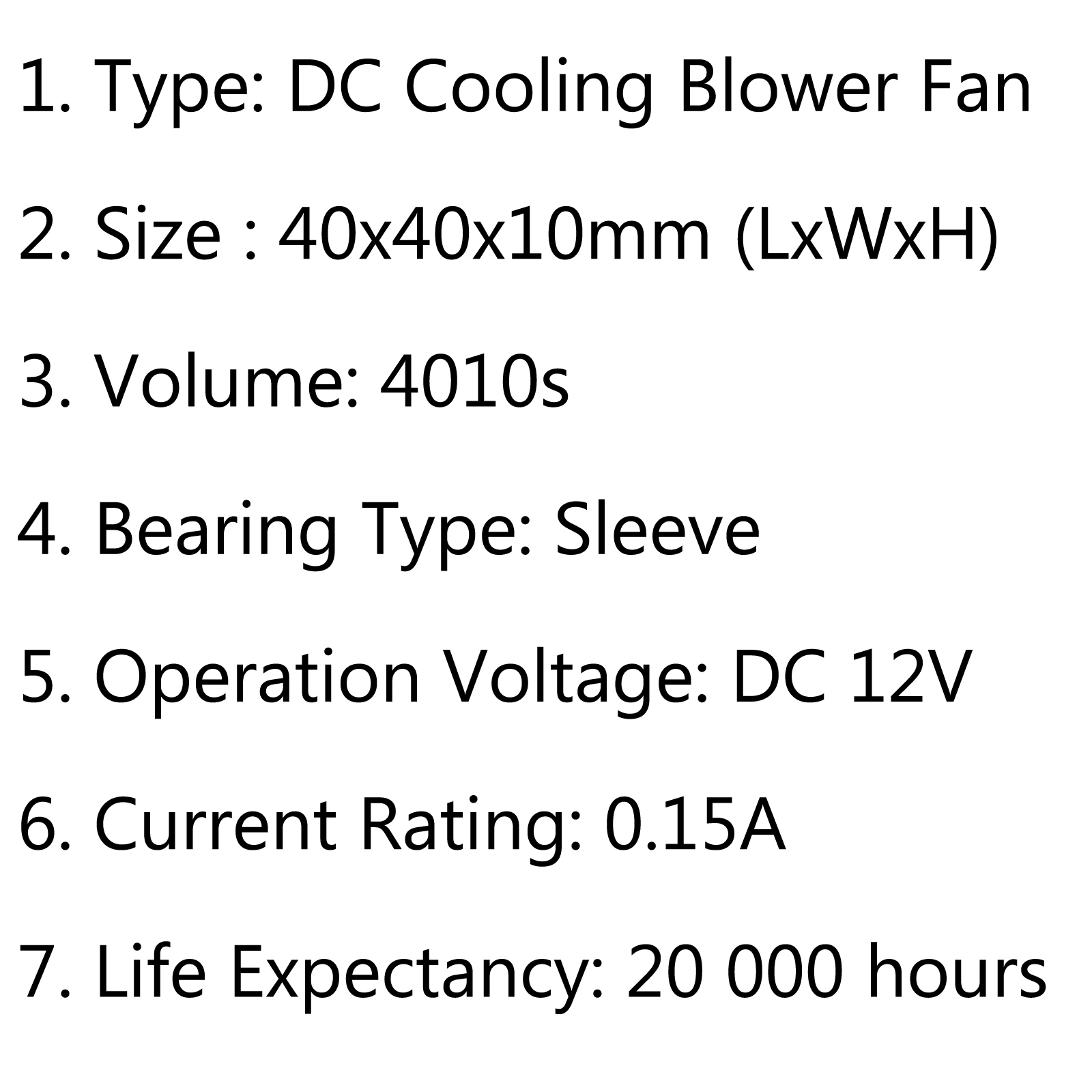 1pcs Brushless Dc Cooling Blower Fan 12v S 40x40x10mm