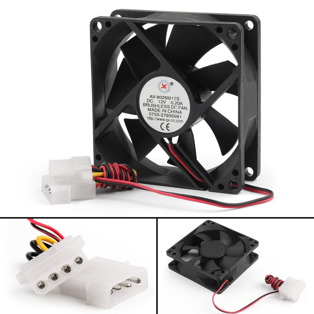 medium resolution of dc brushless cooling pc computer fan 12v 0 2a 8025s 80x80x25mm 4 pin dc 12v computer fan wiring