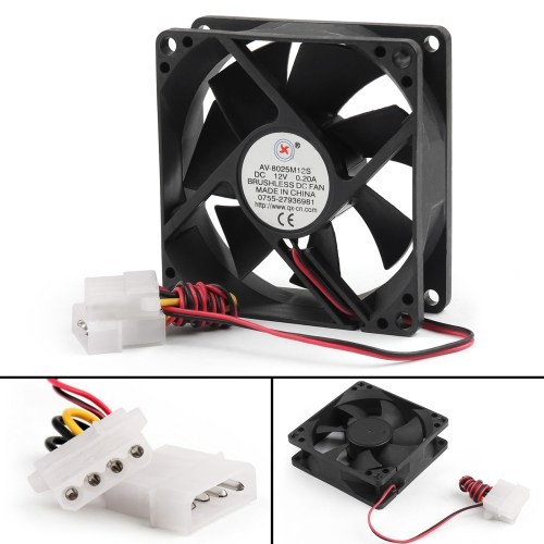small resolution of dc brushless cooling pc computer fan 12v 0 2a 8025s 80x80x25mm 4 pin dc 12v computer fan wiring