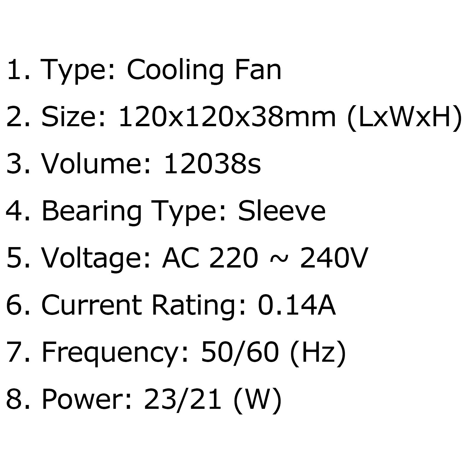 Ac Brushless Cooling Blower Fan 220v 0 14a S