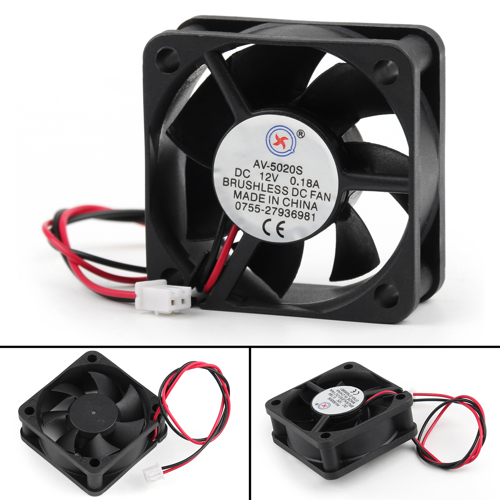 hight resolution of details about dc brushless cooling pc computer fan 12v 0 18a 5020s 50x50x20mm 2 pin wire ua