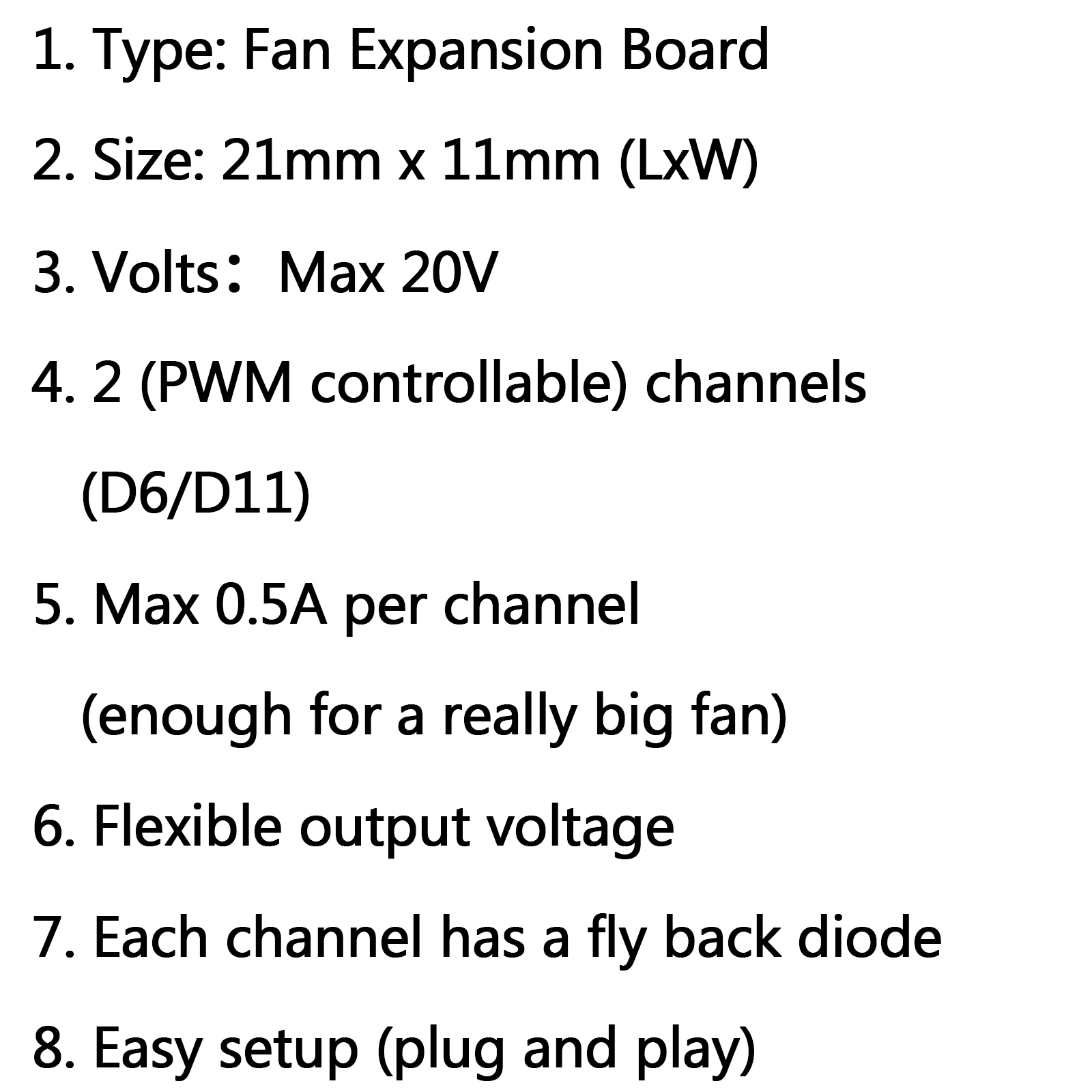 Ramps1 4 Rrd Fan Expansion Board Fan Control Extender For
