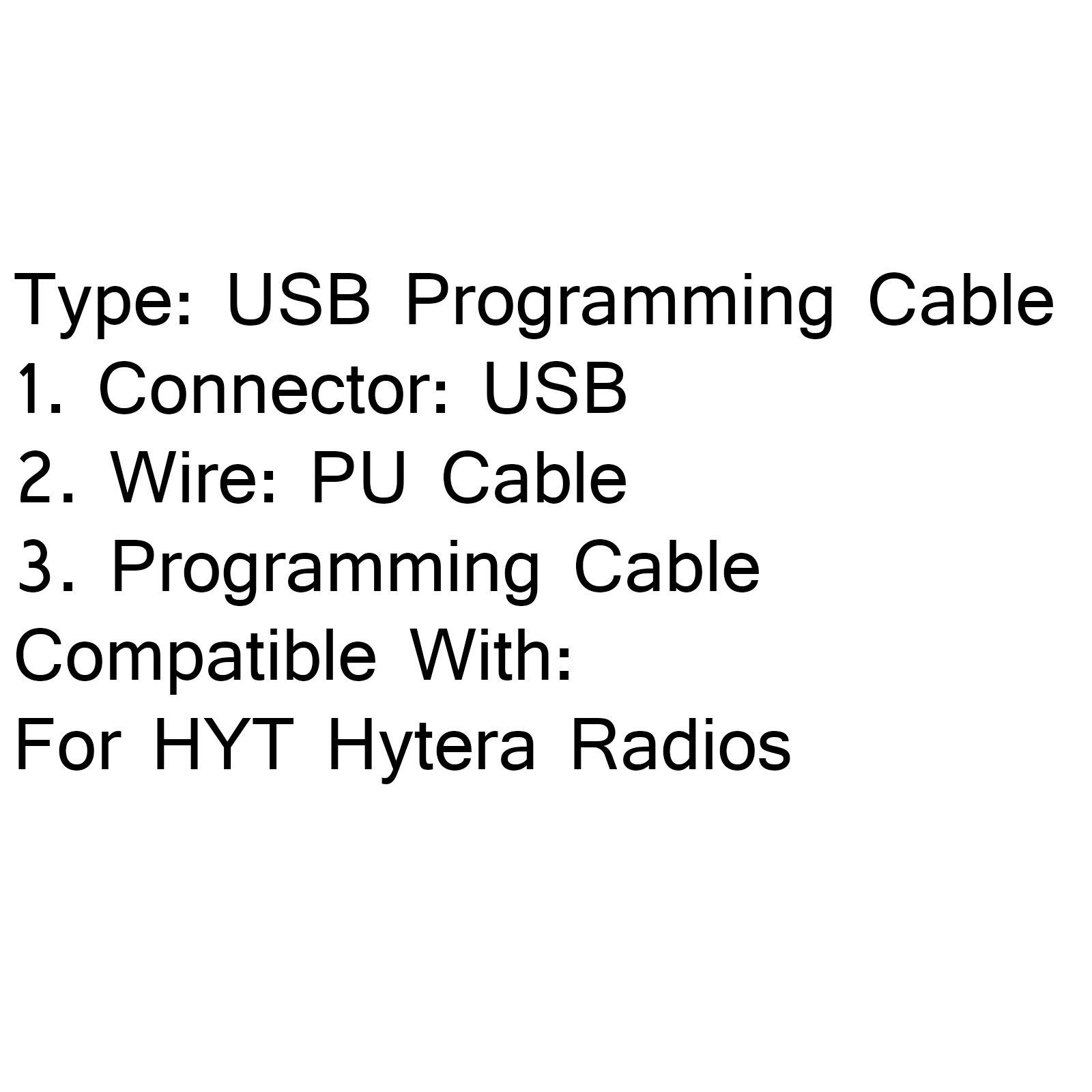 1xUSB Programming Cable For HYT Hytera PD700 PD705 PD705G