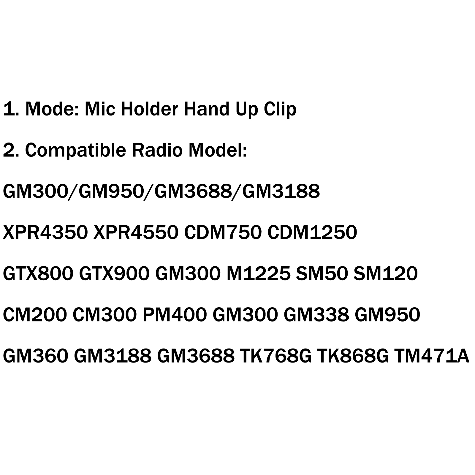 1x Mic Holder Hand Up Clip For Motorola Cb Kenwood Hln