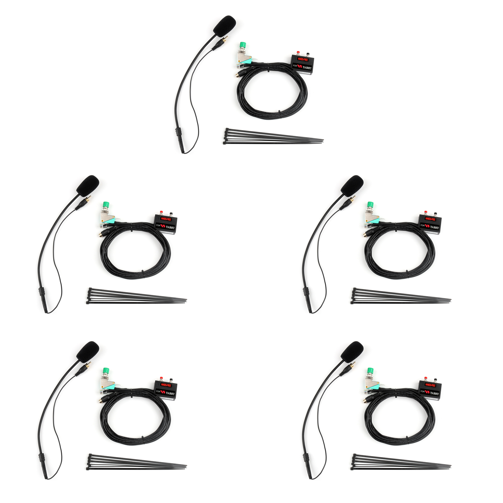 5Pcs 6Pin Hands-Free Car Microfono Mic Per Yaesu Vertex FT
