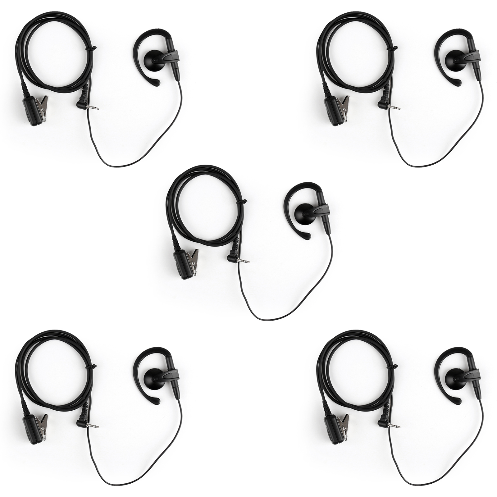 2 5mm Earhook Earpiece Auriculares Ptt Mic Para Motorola