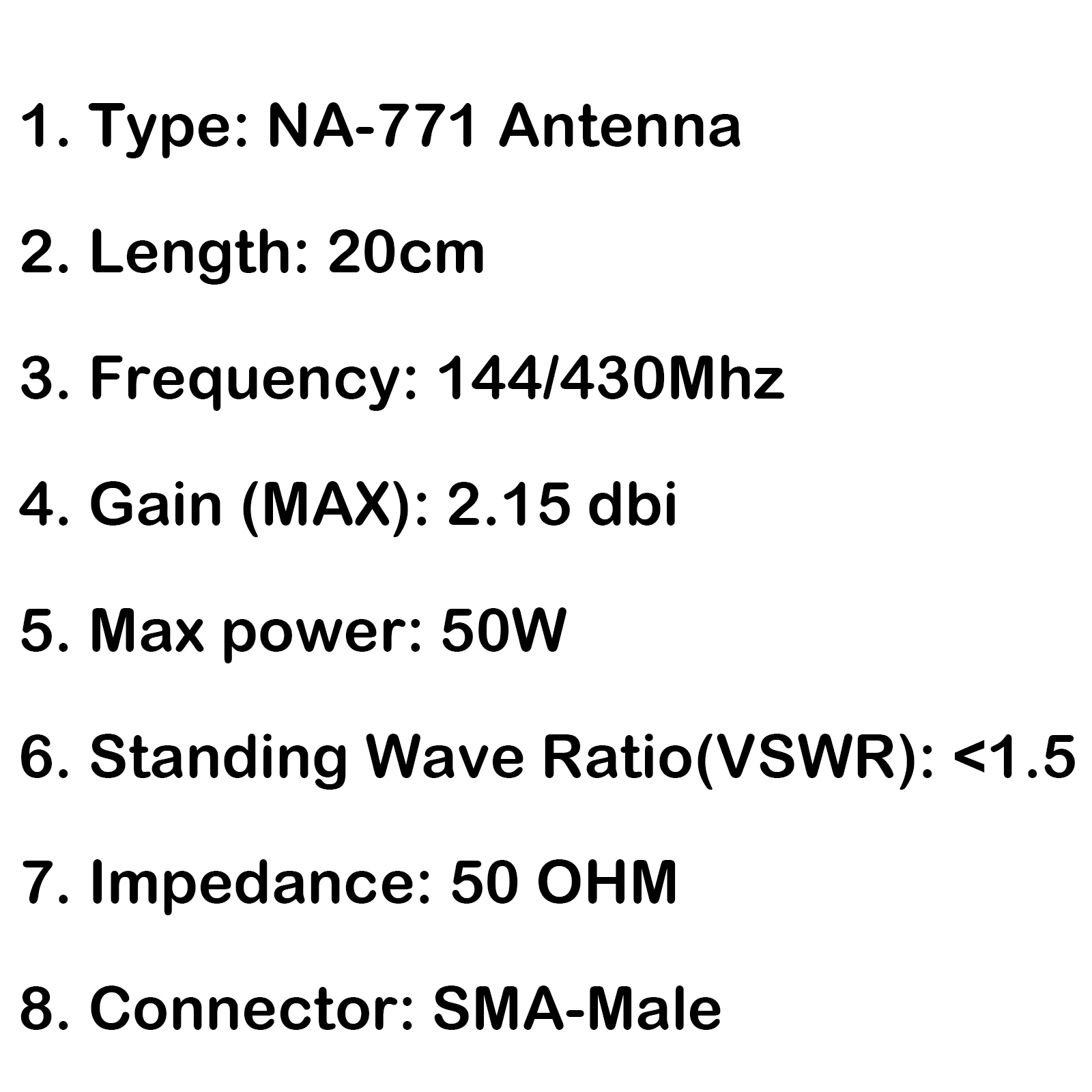 5pcs Na 701 Sma Male Dual Band Antenna 144 430mhz For