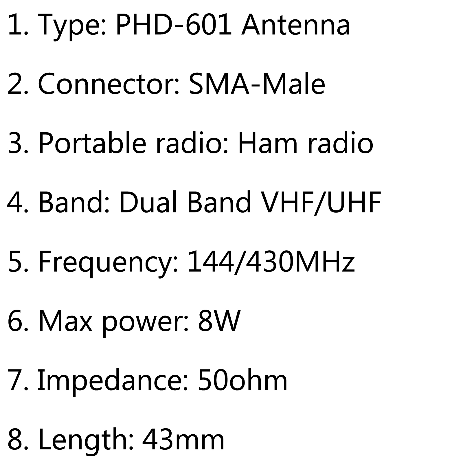 Phd 601 Sma Male Dual Band Antenna For Yaesu Vertex Vx 3r