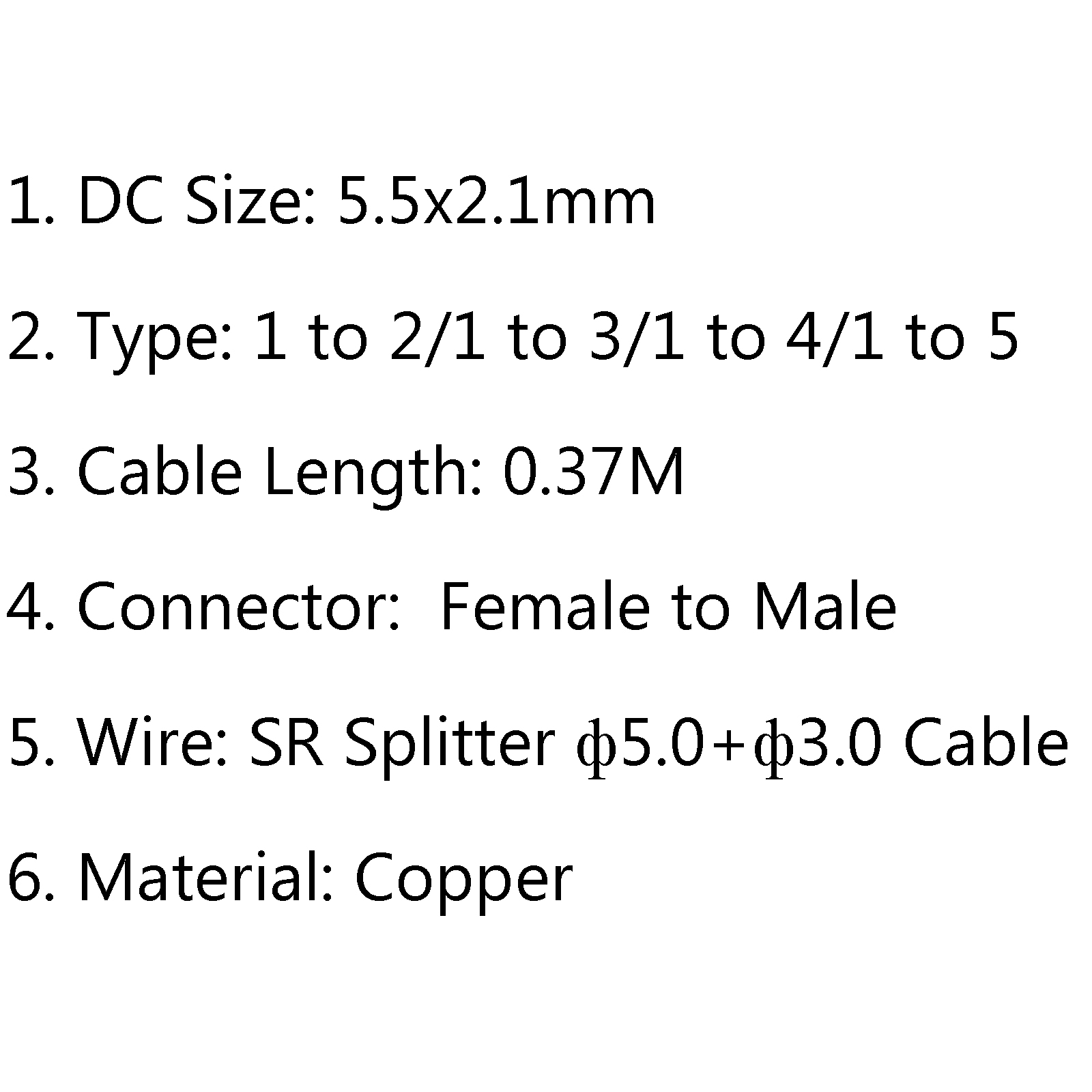 Dc 5 5x2 1mm Femelle To Male Power Splitter Cable Pour Y